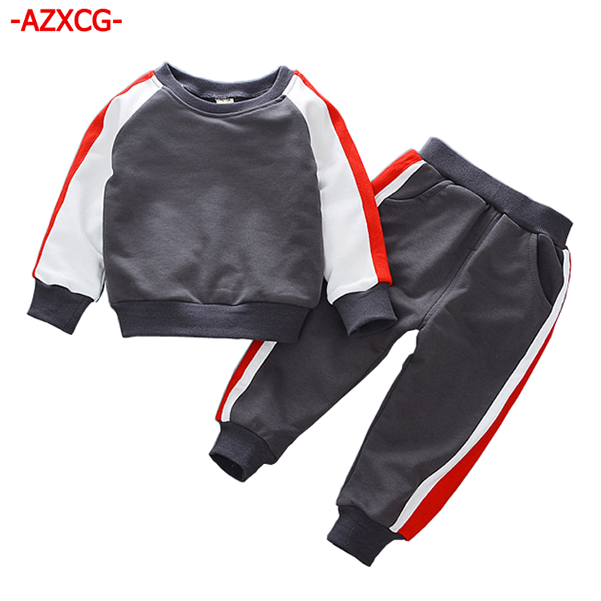 New 2017 Boys Sport Suit Children Autumn Winter Tracksuit Kids Long Sleeve Hoodie + Pant Sets For 1 2 3 4 5 Years Boy Clothes 2015 new autumn winter boy set thermal children tracksuit kids clothing suit boys long sleeved shirt trousers suits