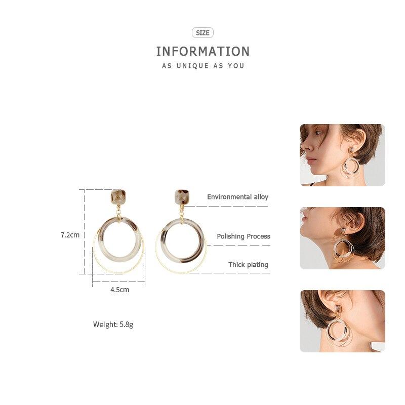 ZEGL round earrings ear clip hoop earrings clip earrings without piercing women earrings jewelry in Drop Earrings from Jewelry Accessories