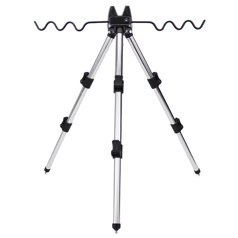 Aluminum Alloy 35 62cm Telescopic 7 Groove Fishing Rod Holder Collapsible Tripod Stand Sea Fishing Pole