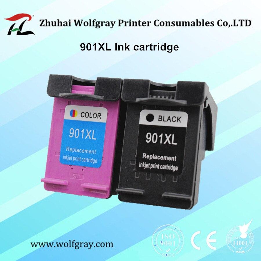 2 STÜCKE 901XL tintenpatrone Für HP901 Für HP Officejet 4500 J4500 J4580...