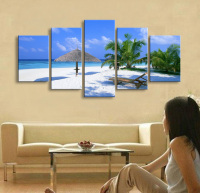 5 Pieces Free Shipping Artistic Print Painting On Canvas Wall Art Decoration HD Printed Home Decor