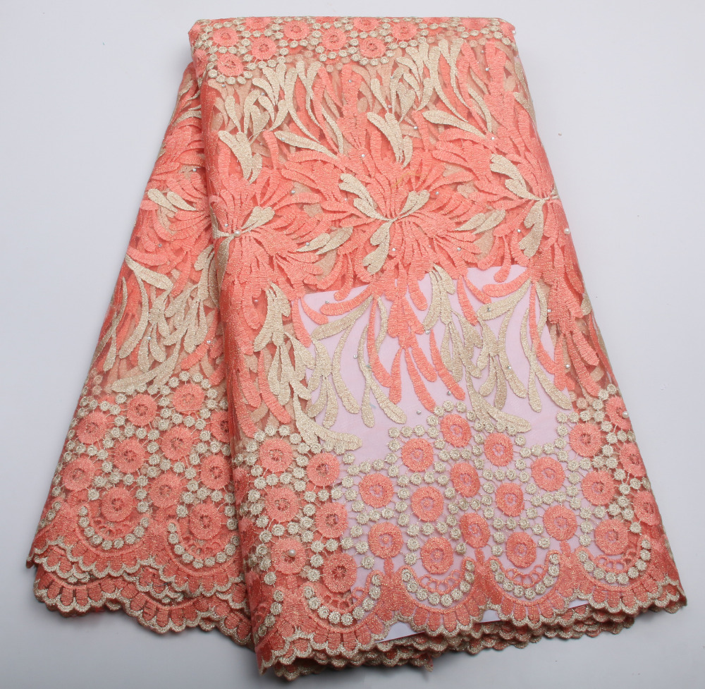 2016 venta caliente nigeriano africano telas de encaje francés - Artes, artesanía y costura