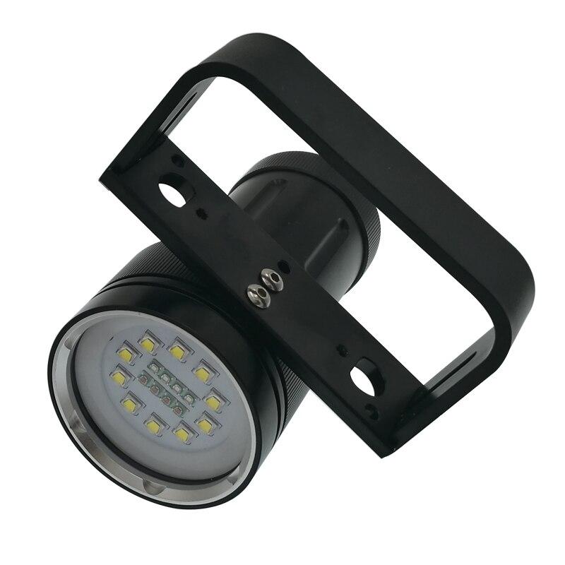 Super luminosité 12000 lumens 10 X CREE XM L2 lampe de poche de plongée professionnelle linternas torche étanche rouge/bleu UV LED - 2