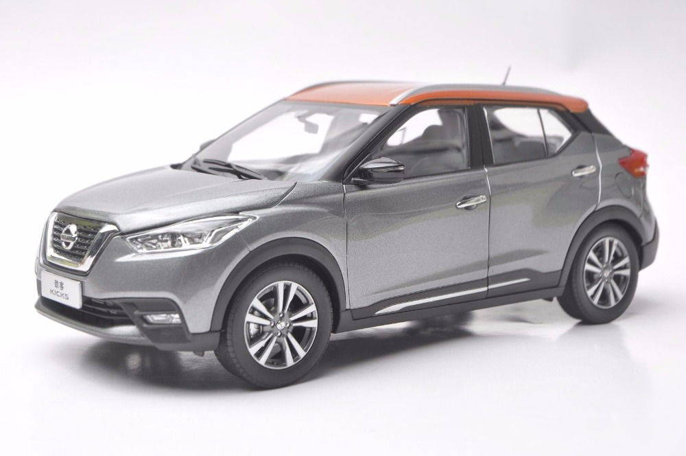 <font><b>1:18</b></font> <font><b>Diecast</b></font> Model for <font><b>Nissan</b></font> KICKS 2017 Gray Mini SUV Alloy Toy <font><b>Car</b></font> Miniature Collection Gifts image