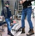 2018 Зимние новые модные джинсы для мальчиков теплые детские повседневные штаны детские джинсы для мальчиков теплые флисовые джинсы для маль...