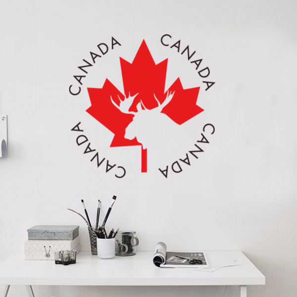 Canada Travel The Word Landmark Wall Sticker Wedding Decor Vinyl Waterproof Wall Sticker