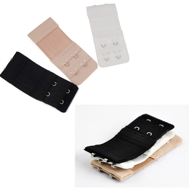 Wholesale 3Pcs Electric Goal 2x3 Hooks Bra Extenders Strap Extention Strap White Black Nude Clasps For Ladies Good Quality
