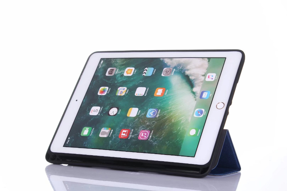 Smart PU Leather Case for iPad 9.7 2018 Protective Stand Flip Cover for iPad 9.7 2018 A1893 A1954 With Pencil Holder