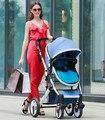 Carro do bebê Alta paisagem suspensão independente pode sentar pode mentir à prova de explosão-portátil dobrável carrinho de bebê