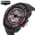 SANDA Moda de luxo Da Marca Homens Relógio À Prova D' Água Relógios Choque Analógico de Quartzo Dos Homens Militares Esportes Relógio Eletrônico Digital 711G