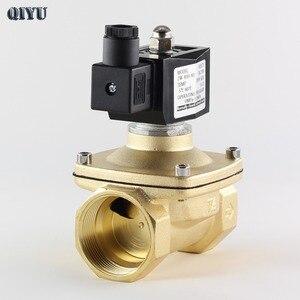 Image 3 - Ac110v/220 v/380 v, dc12v/24 v, válvula solenóide de água normalmente fechada, válvulas de ar de bronze dn10 dn15 dn20 dn25 dn32 dn40 dn50