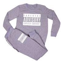 Casual Letter Print Tracksuit 2 Piece Set 2016 Autumn Winter Women Cotton Jogger Sets Fashion Sweatshirt