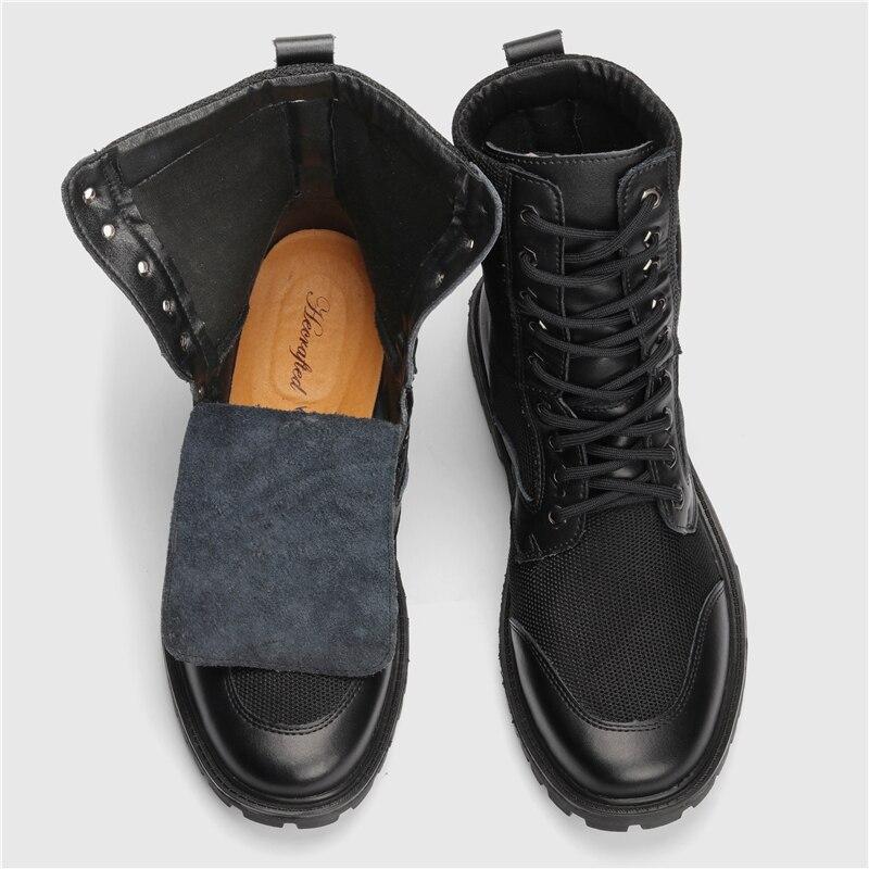 2018 Männer Herbst Stiefel Größe 37 ~ 48 Hecrafted Marke Leder Männer Stiefel # Zw1199