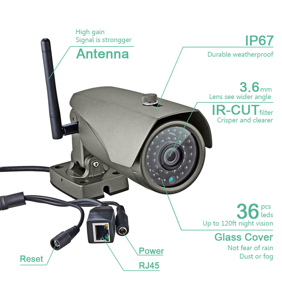 Image 5 - IP67 Waterproof 1080P HD Wireless Outdoor Indoor Wifi IP Camera 2MP Security CCTV Camera P2P Motion Detection For WG11 PG103 106-in Surveillance Cameras from Security & Protection