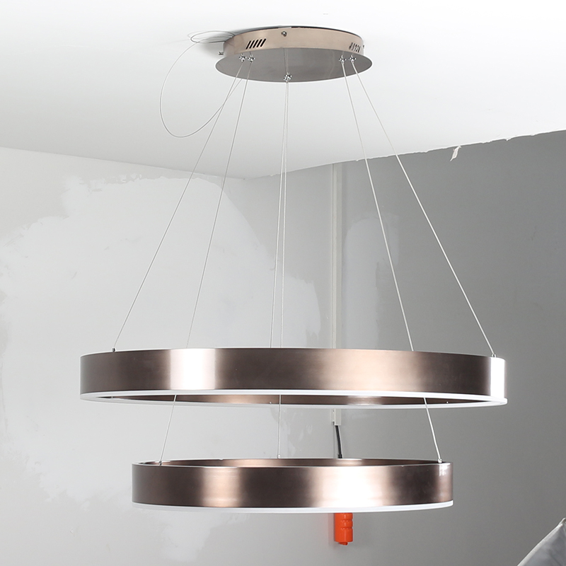 Modern pendant lights for living room dining room 2/1 Circle Rings acrylic LED hanging lamp kitchen lamp black/brown gold body led modern pendant lights lamp for living room dining room 4 3 2 1 circle ring acrylic led lighting kitchen hanging lamp fixture