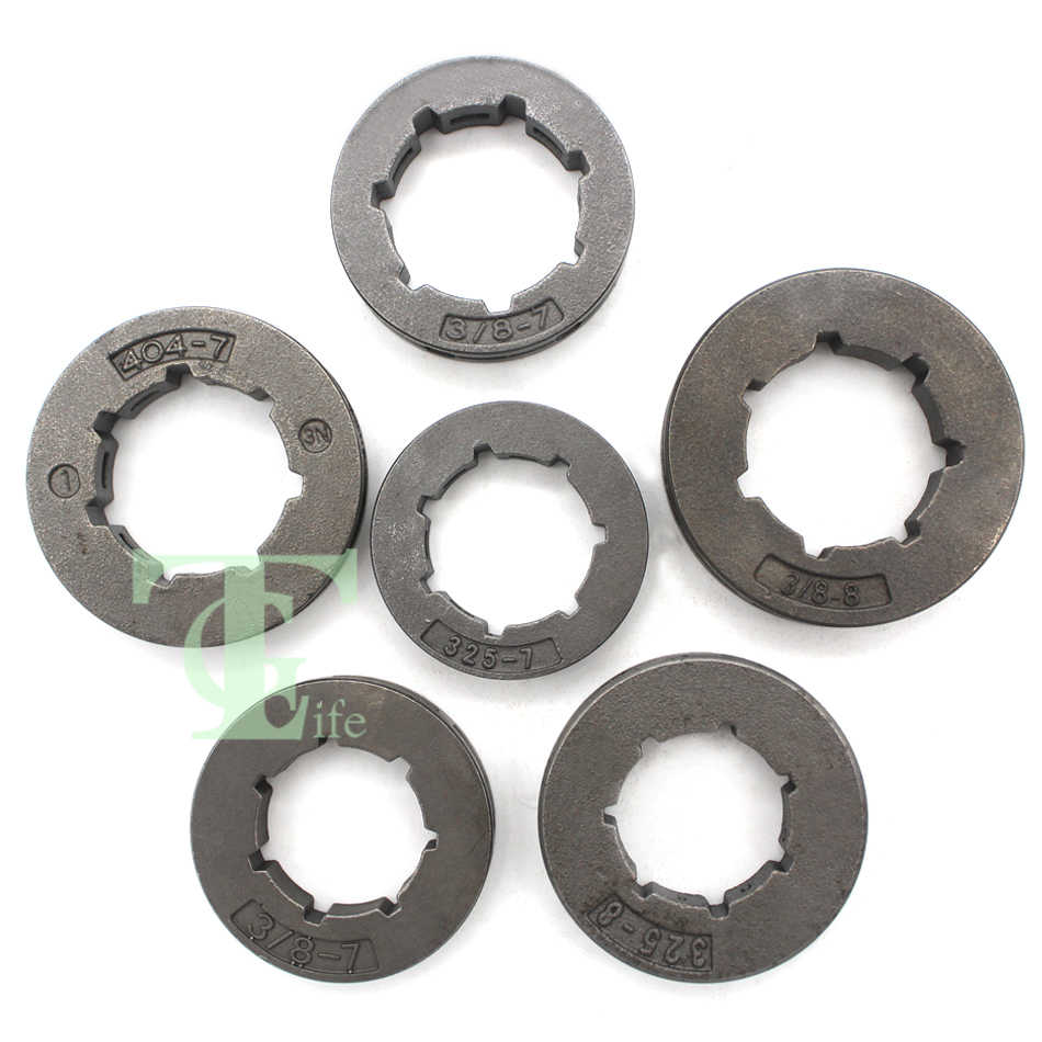 "6Pcs .325 .404 3/8"" Pitch Standard/Mini 7T/8T Chain Drive Sprocket Rim Kit For Husqvarna Stihl Jonsered Partner Poulan Chainsaw"
