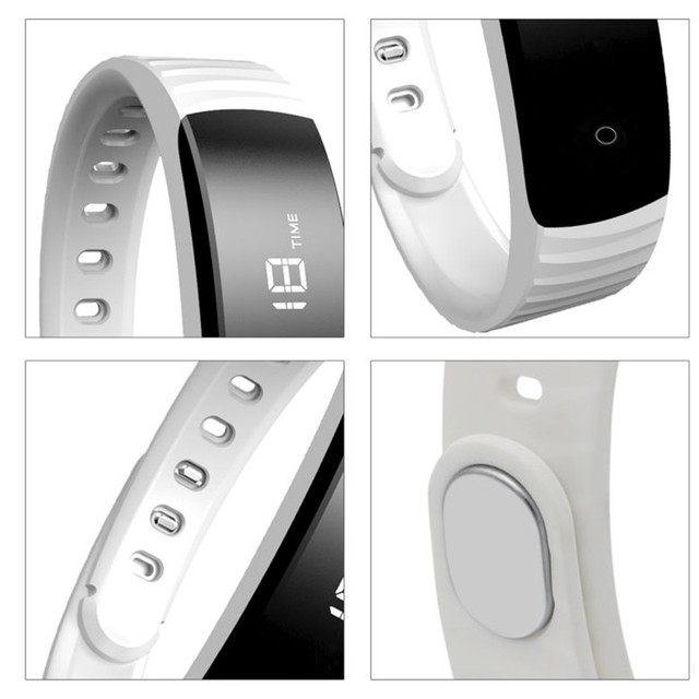 H8 Plus Smart Bracelet Remote Control Smartband Fitness Tracker Pedometer Band OLED Screen Black/White Pk ID115