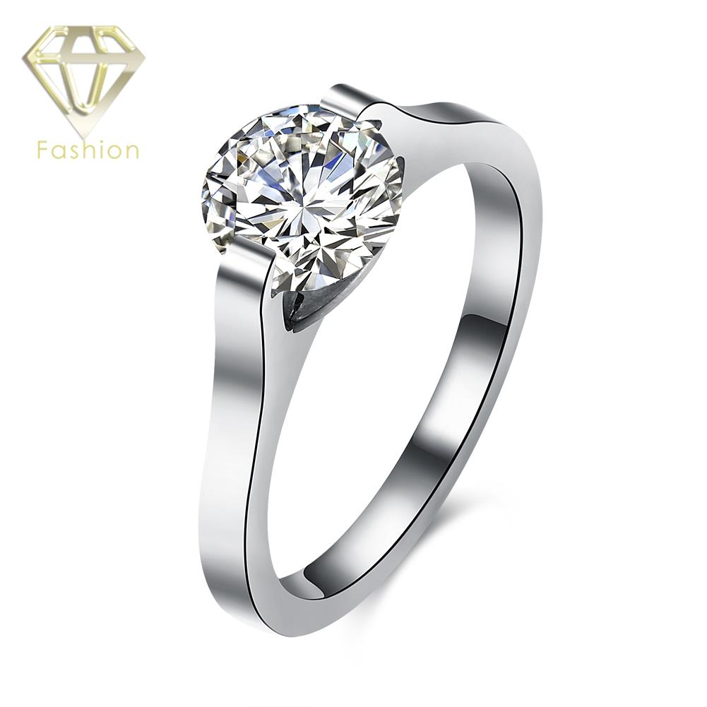 Asscher Cut Engagement Ring Romantic 316l Stainless Steel Inlaid Cubic  Zirconia Popular In Jewelry Stores Online