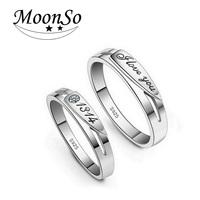 Free Shipping 100 Genuine With CZ Zircon Rings For Lovers Couple Men And Women Engagement Wedding