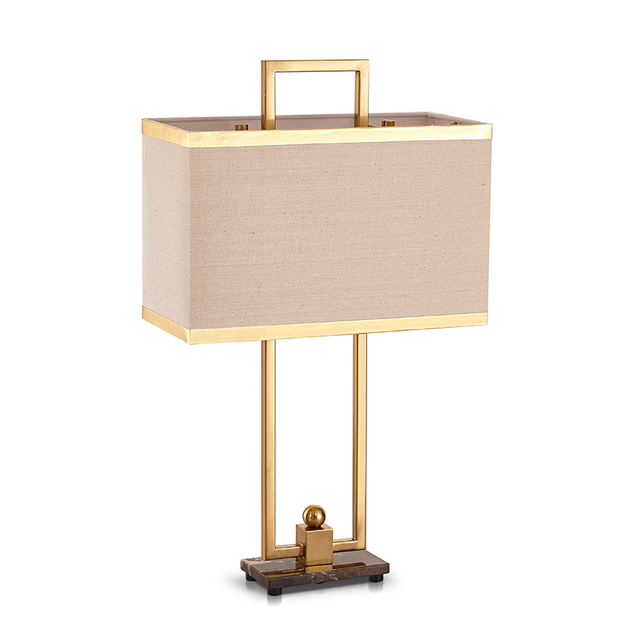 Bronze Color Table Light Hardware Door Type Wrought Iron Table Lamp Luxury  Pattern Model Room Art
