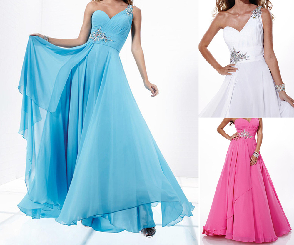 Livraison gratuite 2013 une épaule perles Long de demoiselle d'honneur parti robe de bal robe de soirée robe de bal