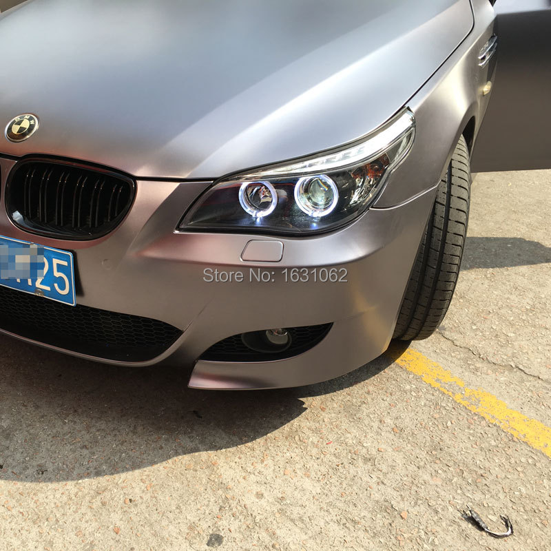 For BMW E60 520i 523i 525i 530i LED Angel Eyes Head Lamp 2004 To 2007 Year With BI Xenon Projector Lens In Car Light Assembly From Automobiles Motorcycles