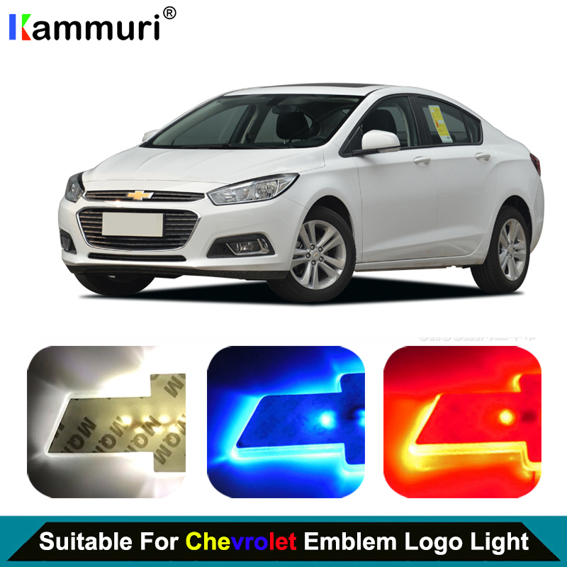 car styling led emblem badge logo light for chevrolet. Black Bedroom Furniture Sets. Home Design Ideas