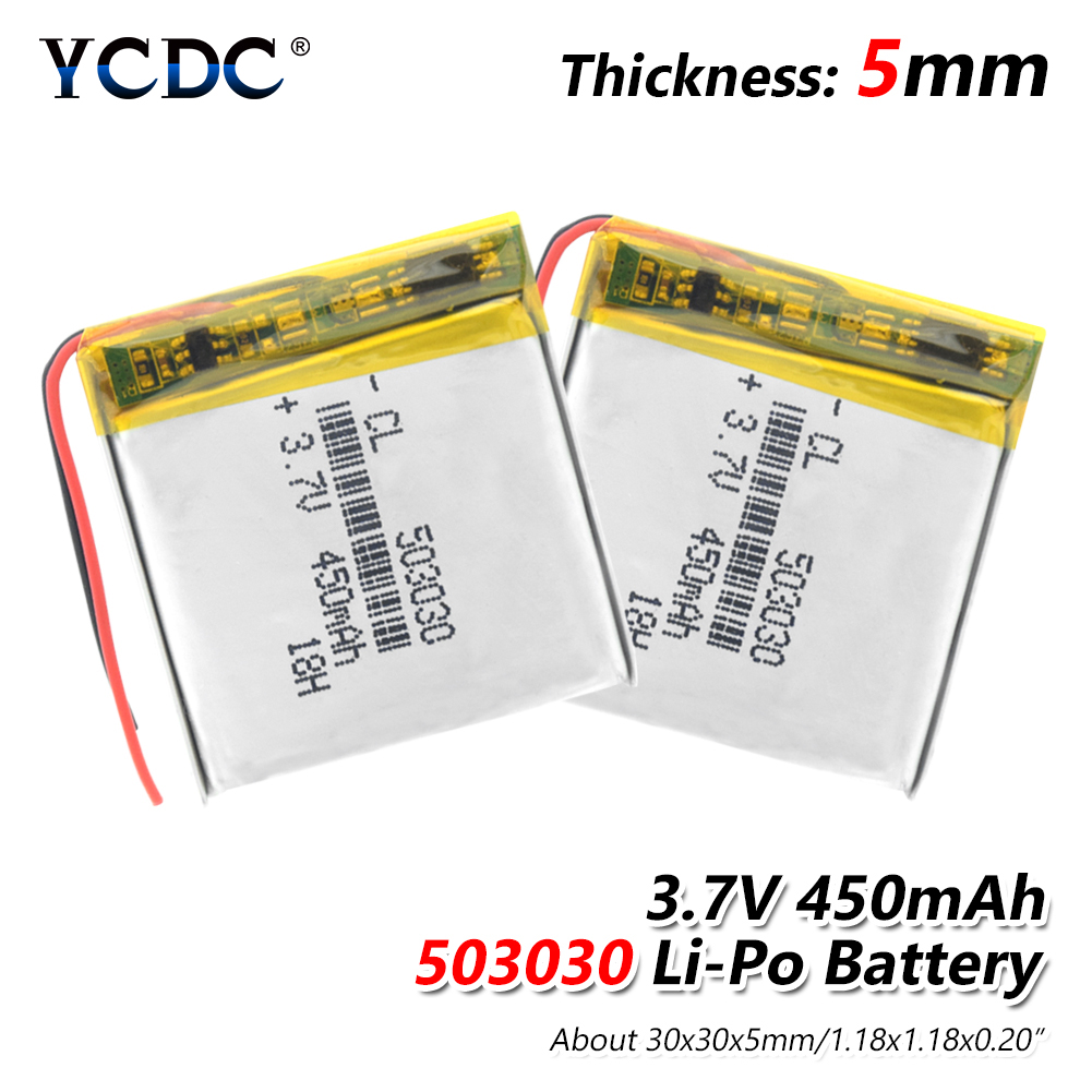 1/2/4 Pcs 2019 New Li Ion Polymer Battery For Smart Watch GPS Game Player Power Bank Humidifier Mice 3.7v 503030 450mAh Bateria