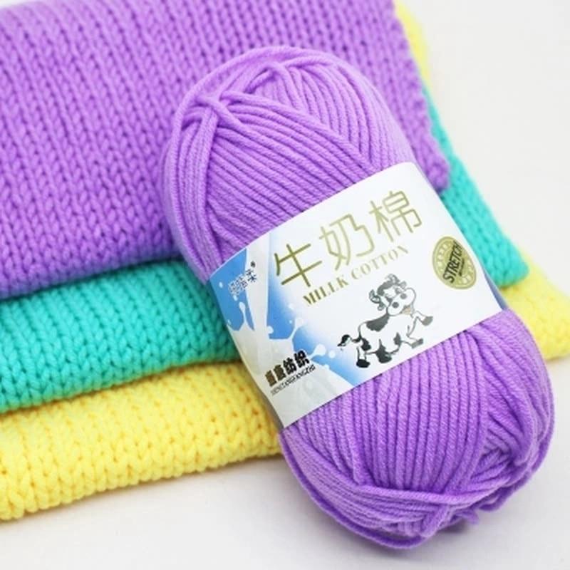 50g/pc Winter DIY Soft Milk Cotton Yarn Baby Wool Yarn for Knitting Hand Knitted Blanket Sweater Scarf Doll Crochet Yarn(China)