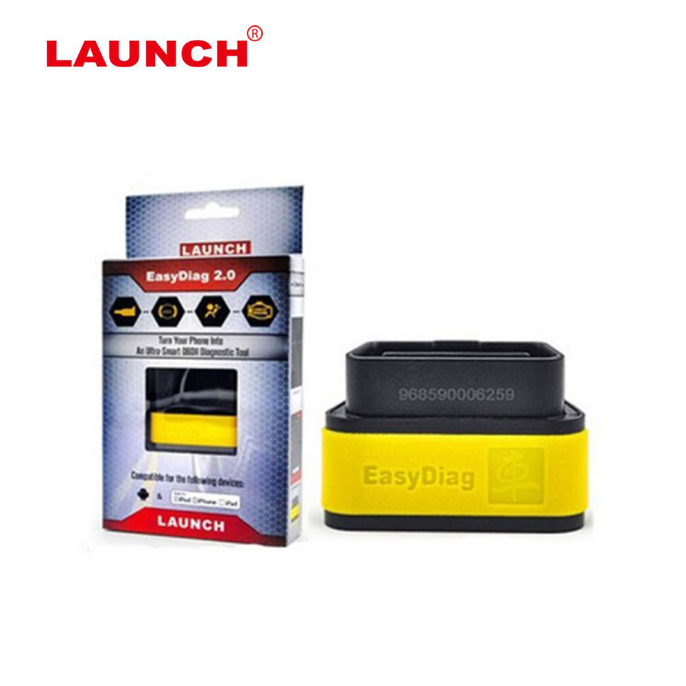 Launch X431 Easydiag 2.0 For Android/iOS 2 in 1 Auto Diagnostic-tool Launch EasyDiag Update by LAUNCH Website EOBD OBD Scanner launch x431 idiag connector full set package x 431 easydiag adapter launch x431 yellow box without b enz 38 pin adapter in stock