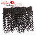 Free Shipping Brazilian Virgin Hair Deep Wave Lace Frontal Closure 4X13 Free Part Swiss Lace Ear to Ear Lace Frontal Closure