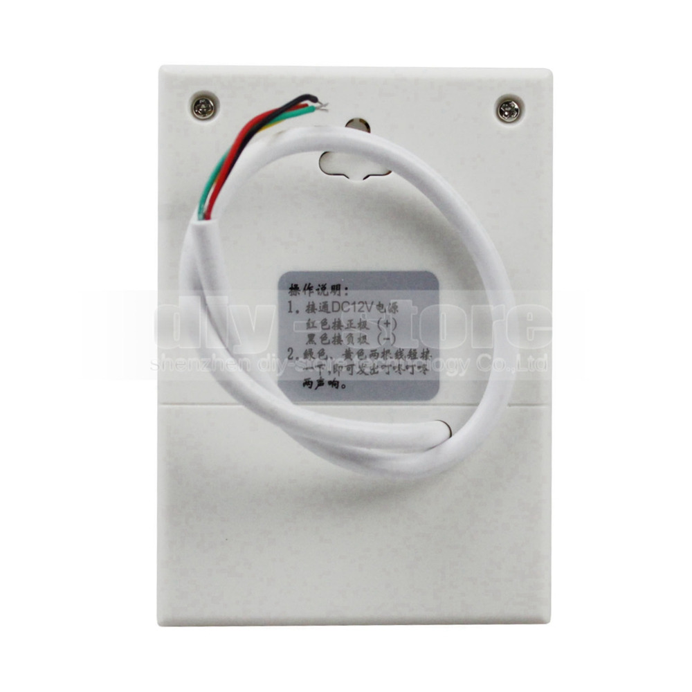 DIYSECUR High Quality DC12V Electronic Door Bell For Door Access Control System Kit White