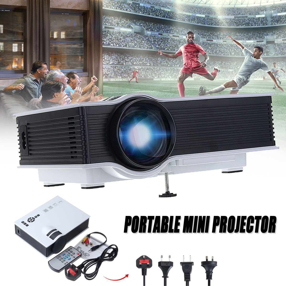For GIGXON G40 1200 LM 1080P Led Projector Home Theater Full HD Compatible Mini Projector HDMI for Home Cinema TV Laptop Gam телескопы бинокли gigxon 200