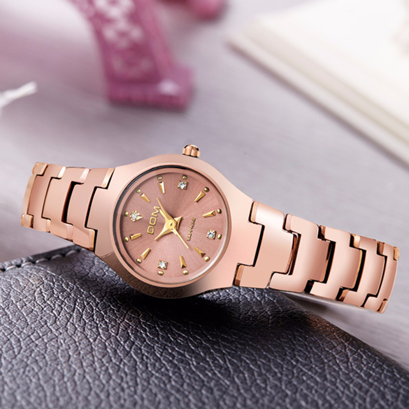 DOM watch women fashion casual dress quartz watches waterproof women luxury tungsten steel bracelet wristwatch relogio feminino dom brand luxury women watches waterproof tungsten steel bracelet fashion quartz silver ladies watch relogio feminino