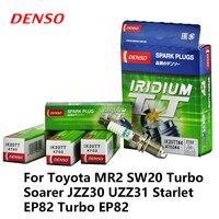 4 teile/los DENSO Auto Zündkerze Für Toyota MR2 SW20 Turbo Soarer JZZ30 UZZ31 Starlet EP82 Turbo EP82 Iridium Platin IK20TT-in Zündkerzen & Glühkerzen aus Kraftfahrzeuge und Motorräder bei