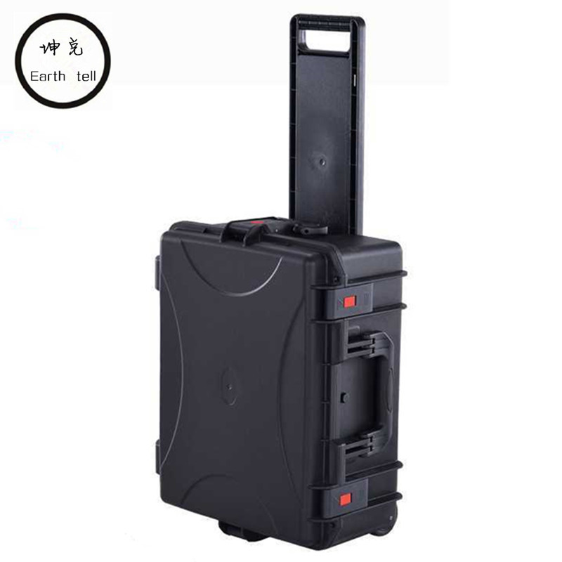 Suitcase Tool case toolbox trolley Impact resistant sealed waterproof camera Equipment box Luggage with pre-cut foam Travel bag tool case toolbox suitcase impact resistant sealed waterproof abs case 490 333 132mm camera case equipment box with pre cut foam