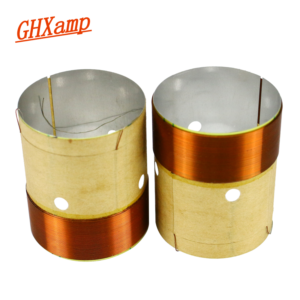 GHXAMP <font><b>32mm</b></font> Woofer Voice coil Woofer <font><b>Speaker</b></font> Repair Parts 8OHM White Aluminum Copper Wire With Sound Hole Two Layer 2pcs image