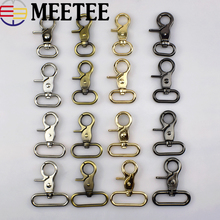 ФОТО 2pc luggage dog metal belt strap buckle bags hanger clasp lobster swivel trigger clips snap hook dog collar diy sewing accessory