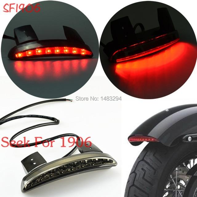 US $19 59 18% OFF Smoke Rear Fender Edge LED Tail Light Running Light Fits  For Harley Davidson Iron 883 XL883N XL1200N Chopped on Aliexpress com  