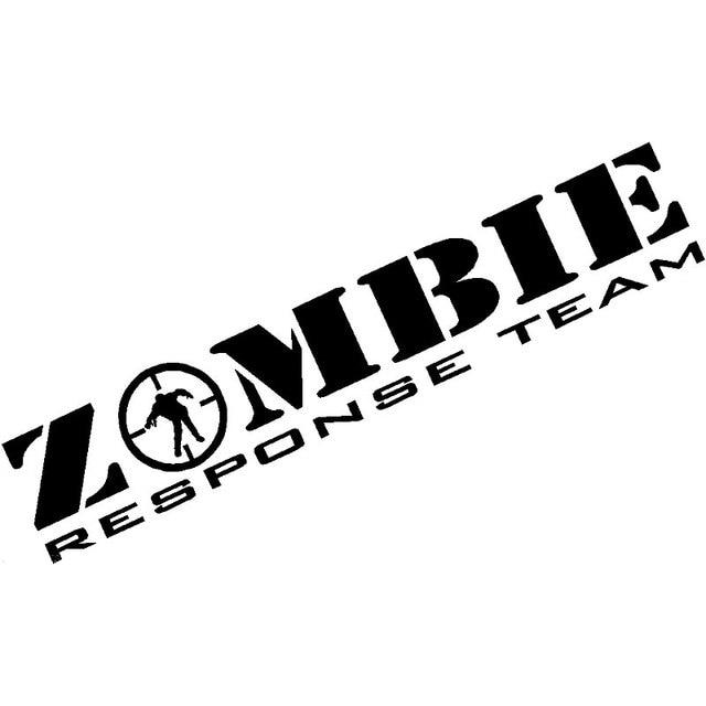 16CM*3CM Zombie Response Team Decal Zombie Apocalypse ...