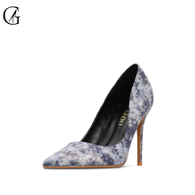 Купить с кэшбэком GOXEOU 2019 Women Pumps Thin High Heels Sexy Pointed Toe Multicolor Office Patent Leather Handmade Free Shipping size32-46