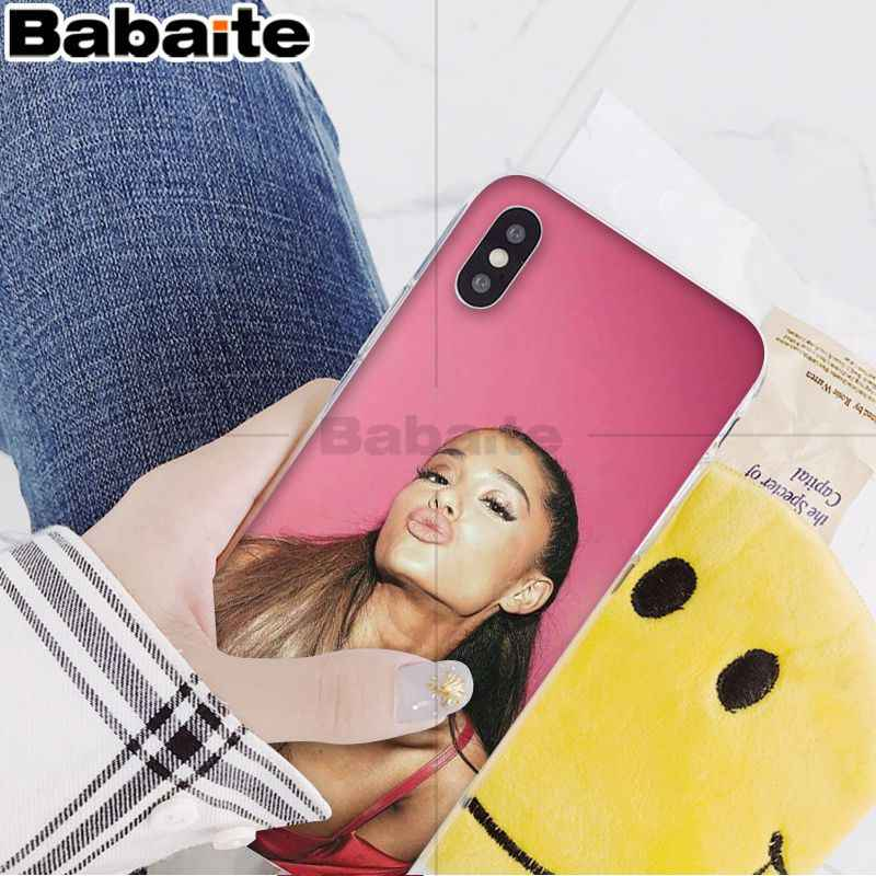 Babaite Ariana Grande AG Rainbow สารให้ความหวาน Coque Shell สำหรับ iPhone 8 7 6 6 S Plus 5 5 S SE XR X XS MAX Coque Shell