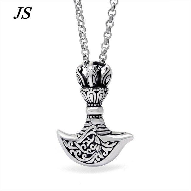 Js классические титана стали викинг топор ожерелье колье Homme Colar Masculino Ancora мужской племенной славянские якорь ювелирные изделия TN002