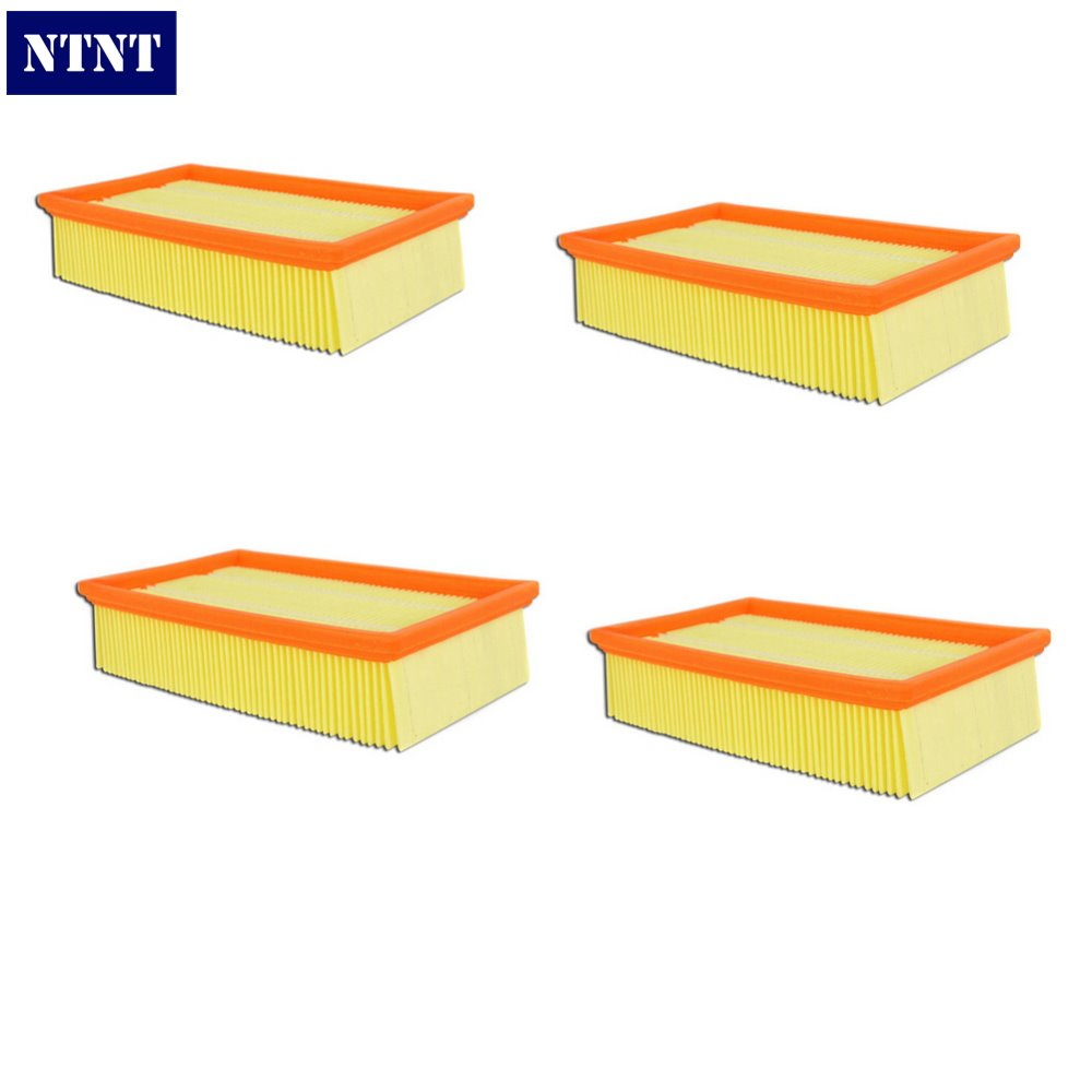 NTNT Free Shipping New 4 PCS Vacuum Cleaner For KARCHER NT 65/2 Eco Te 72/2 Replacement filter