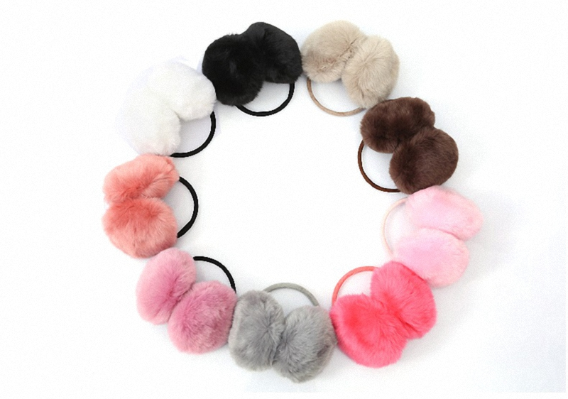 Music Green Pink Colorful Instruments Pattern Winter Earmuffs Ear Warmers Faux Fur Foldable Plush Outdoor Gift