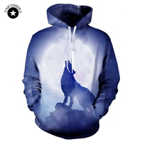 Animal Wolf Hoodies Men Women 3d Sweatshirts Printed Autumn Winter Hoody Unisex Hooded Tracksuits Tops Plus