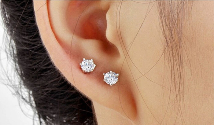 8bb989f8a sterling silver small earrings black stud CZ diamond earrings for men white  gold plated ear studs for men cubic zircon earrings-in Stud Earrings from  ...
