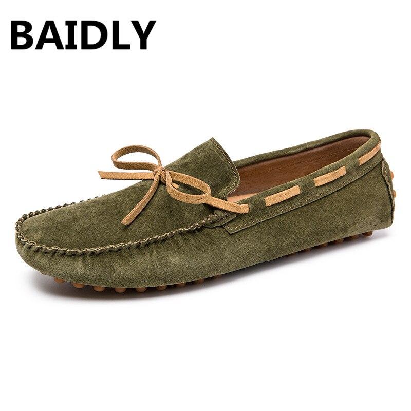 Qualité Conduite Doux Brown Gommino noir Haute Cuir Chaussures Hommes Beige De Véritable D'été bleu Baidly Mode Appartements Style Green En Mocassins light Marque army 1aUZxnwz