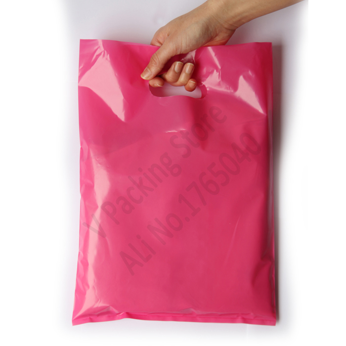 25 35cm Custom print plastic bags packaging gift bag for shopping garment  handle carrier logo brand designed PE bags Wholesale-in Gift Bags    Wrapping ... 11555dc30a