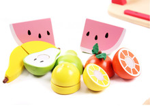 New wooden toy kitchen set Fruits wood baby Free shipping